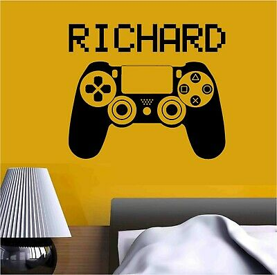 $ CDN21.16 • Buy Video Game PlayStation Joystick Personalised Name / GamerTag Vinyl Sticker Decal