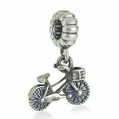 Bicycle Push Bike Charm Bead Dangle 925 Sterling Silver • 9.95£