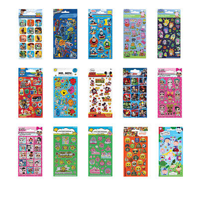 £1.75 • Buy FOIL STICKER SHEETS Kids Licensed Character Birthday Party Gift Loot Bag Fillers