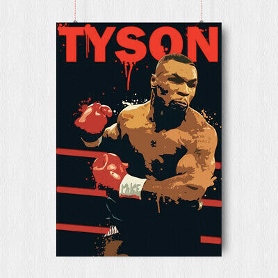 £10.95 • Buy Iron Mike Tyson Boxing Poster Wall Art Abstract Sport Legend  A3 A4 Size
