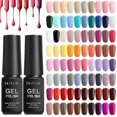 7ml Nail Art Gel Nail Polish Soak-off UV/LED Decors Varnish Top Base Coat Set • 2.39£