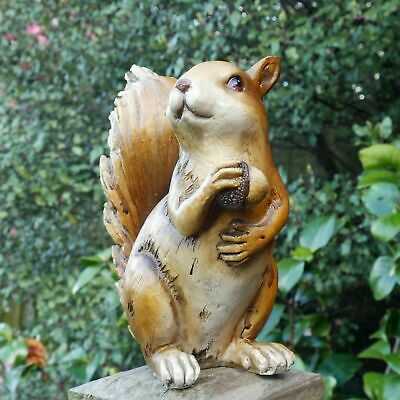 £19.99 • Buy Red Squirrel Garden Ornament Wood Effect Resin Animal Sculpture Home Décor GIFTs