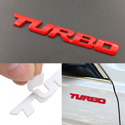 £3.86 • Buy NEW Red 3D TURBO Letter Sticker Metal Emblem Badge Auto Car Styling Decal Logo