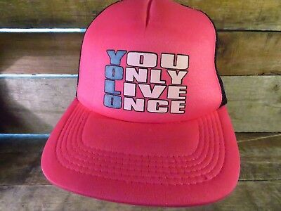 YOLO You Only Live Once Trucker Mesh Snapback Adjustable Adult Hat Cap • 4.69£