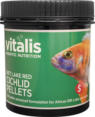 Vitalis Rift Lake Red Cichlid Small 1.5mm Pellets Sinking For African Carnivores • 9.49£