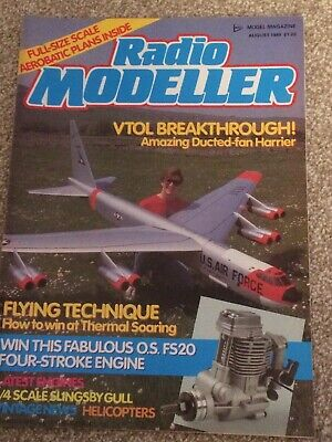 £4.50 • Buy Radio Modeller Magazine AUGUST 1988 Includes FREE Plan SPINKS ACROMASTER 39IN W