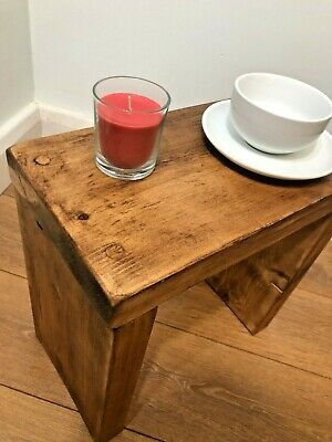 £64 • Buy Rustic Coffee/side Table- Solid Chunky Wood-farmhouse - 5 Wax Colour Options