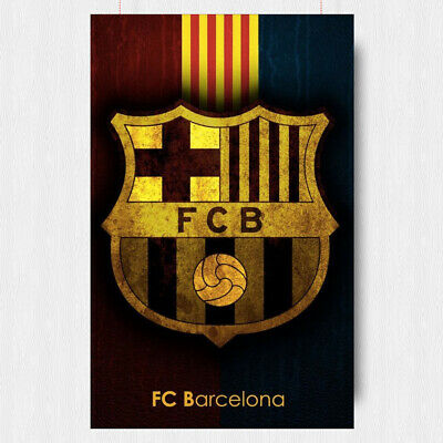 Fc Barcelona Football Poster Spain Barca  A4 A3 Size • 10.95£