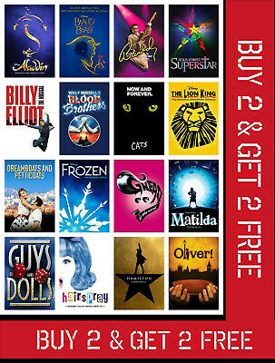 £6.95 • Buy Classic Musical Theatre Show Posters Uk Music Wall London Art Print A3 A4 Size