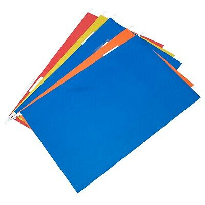 £8.99 • Buy Colour Hanging Suspension Files Tabs Insert Filing Cabinet A4 & Foolscap Folders
