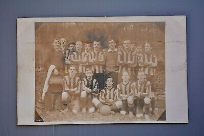 R&L Postcard: Real Photo Of Unknown Football Team, Sheffield Area Maybe • 4.99£