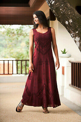 $59.99 • Buy NEW HOLY CLOTHING Holyclothing ENA Maxi Dress Garnet Boho Hippie Renaissance 2X