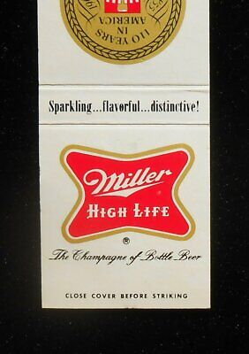 $7.34 • Buy 1965 110 Years Miller High Life The Champagne Of Beer Milwaukee WI Matchbook