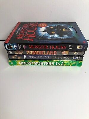 $ CDN15.37 • Buy Lot Of 4 COMEDY/HORROR DVDs - Monster House Zombieland Transylvania Ghostbusters