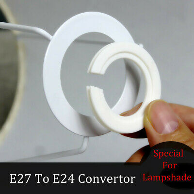 10/20PC E27 To E24 Lamp Shade Reducer Plate Light Fitting Ring Adapter Converter • 4.70£
