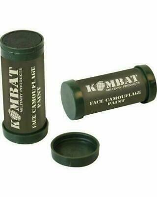 Pack Of 10 X Kombat Army Face Paint  Green / Brown Cadets Camo Cream Camouflage • 22.50£