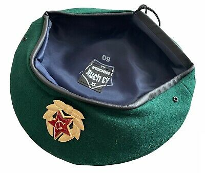 £10.99 • Buy USSR Soviet Russian Army Style Green Military Beret Hat Cap Border Troops Badge