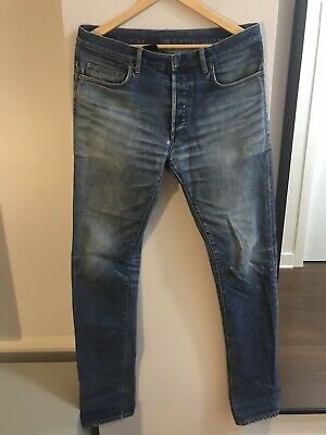 $189 • Buy Pre-owned Authentic Dior Homme Jeans Blue Clawmark SS10 19cm MIJ Sz. 32