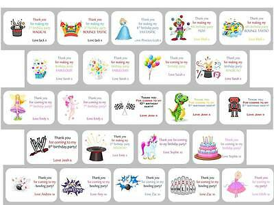 24 X Personalised Birthday Stickers Labels Thank You For Coming To My Party Bag • 3.40£