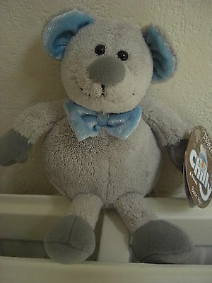 Tesco Chilly & And Friend Soft Cuddly Toy Mouse Mice Teddy Bear Grey Blue Marcus • 12.99£