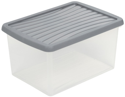 Wham Plastic A4 Paper Storage Box Clear Colour Lid Stackable 16L • 10.60£