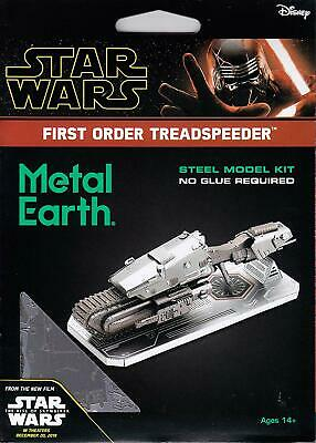 AU21.86 • Buy Metal Earth Star Wars Rise Of Skywalker FIRST ORDER TREADSPEEDER 3D Model Kit