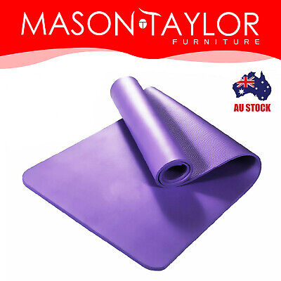 AU29.98 • Buy Mason Taylor 10/15MM NBR Thick Yoga Mat Pad Nonslip Exercise Fitness Pilate Gym