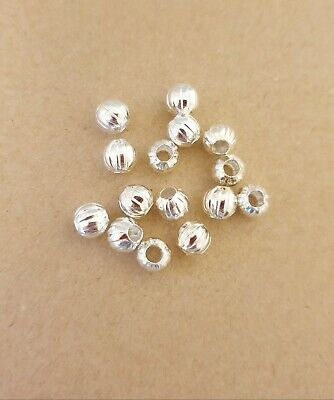100 X Silver Round  Spacer Beads 6mm For Jewellery Making   • 2.60£