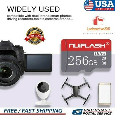 $12.99 • Buy 256GB TF-Flash Memory Cards SD-Card U3 C10 Cards For Phone Cameras US