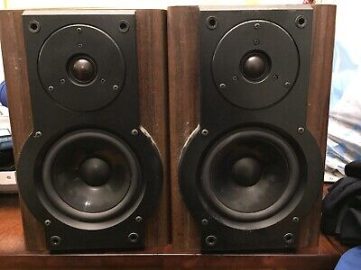 $75 • Buy Aiwa 50W Classic Bookshelf Speaker System Pair Model Sx-LM50