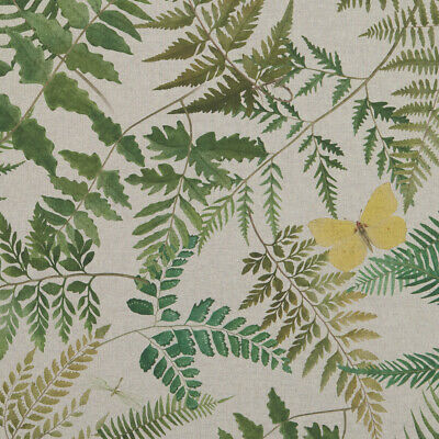 Clarke And Clarke Fern Glade Linen Cotton PVC WIPE CLEAN Tablecloth Oilcloth • 7.99£