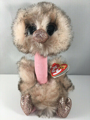 2019 TY Beanie Boos 6  HENNA Brown Tipped Ostrich Plush Stuffed Animal Toy MWMTs • 8.95$