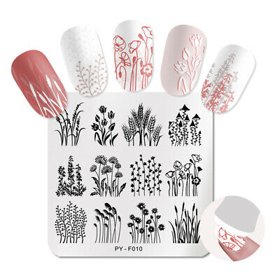 $0.99 • Buy PICT You Nail Stamping Plates Dandelion Leaves Stencil Nail Art Image Templates