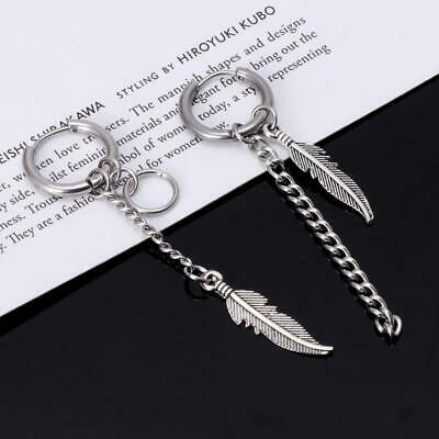 Korean Idols KPOP Bangtan Boys Album Feather Mismatch Tassel Chain Earrings • 3.46£