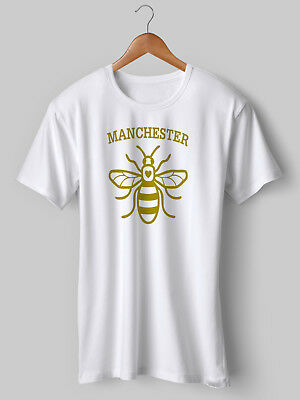 Manchester Worker Bee T Shirt Bomb Anniversay City United Man NEW Printed • 12.50£
