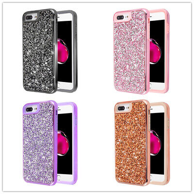 AU10.37 • Buy For IPhone 8 Plus IPhone 7 Plus Bling Glitter Sparkle Shockproof Rugged Case