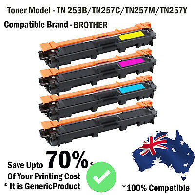 AU175.99 • Buy TN253 TN257 Toner For Brother DCP-L3510CDW MFC-L3750CDW MFC-L3770CDW L3745CDW