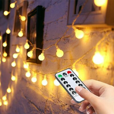 100 LED Globe Bulb Battery Fairy String Lights Indoor Outdoor Christmas Decor UK • 11.89£