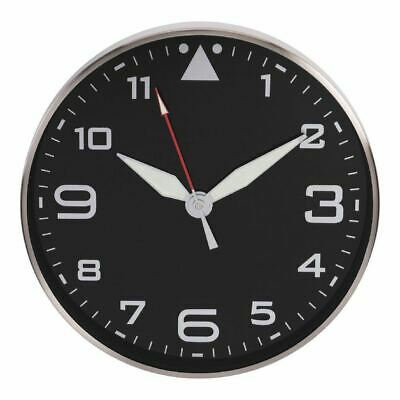 Hometime Metal Wall Clock With Black Dial And Luminous Hands • 34.44£