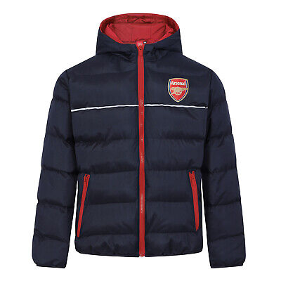 Arsenal FC Official Football Gift Boys Quilted Hooded Winter Jacket • 39.99£