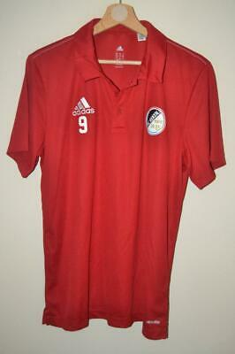 Retro Red Adidas Germany 2015 Sc Reken Polo Shirt T-shirt #9 Mens Uk Medium • 7.78£