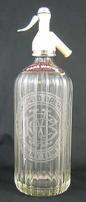£36.44 • Buy VINTAGE CLEAR GLASS SELTZER BOTTLE Etched MANSFIELD BREWERY COMPANY LTD. BEER