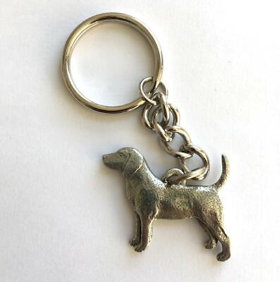 Beagle Keyring In Copyrighted Antiqued Pewter - Beagle Gifts Presents • 7.88£