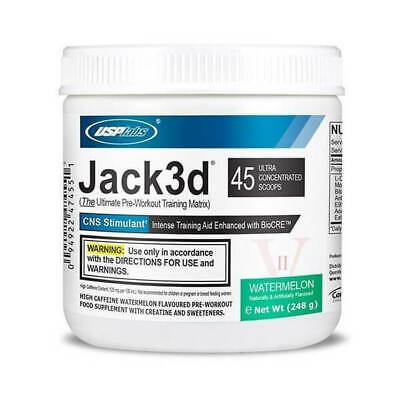 AU47.18 • Buy Jack 248g 3D Ultimate Pre-Workout Training Matrix Powder CNS Stimulant USP Labs