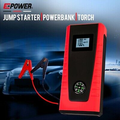 AU114 • Buy E POWER Bank Portable Vehicle Jump Starter Car Battery Charger Torch Lithium 12V