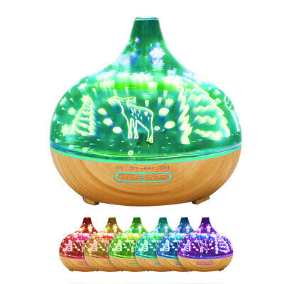 AU35.99 • Buy Aroma Diffuser Aromatherapy 3D Ultrasonic Humidifier Essential Oil Air Purifier