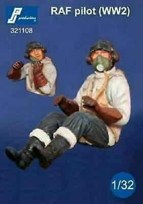 PJ Production 321108 1/32 RAF Pilot WWII Seated In Aircraft Resin Figure • 16.95£