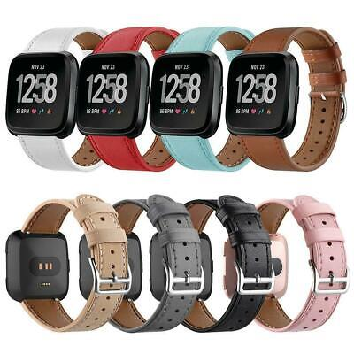 £8.99 • Buy Replacement Leather Wristband Strap For Fitbit Versa/Versa 2 Watch Band