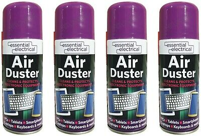 4 X 200ml Compressed Air Duster Spray Can Cleans Protects Laptops Keyboards HLU • 10.99£