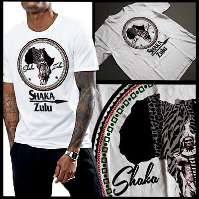 £18.15 • Buy African King Shaka Zulu South African Warrior Pride Of Africa T-Shirt Cotton New